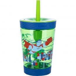 Стакан детский с трубочкой Contigo Spill Proof Tumbler (0,42 литра), зеленый