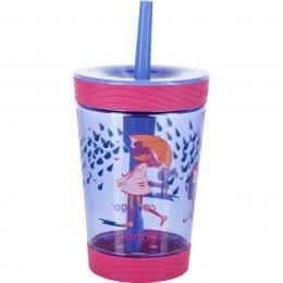 Стакан детский с трубочкой Contigo Spill Proof Tumbler (0,42 литра), розовый