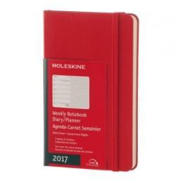 Еженедельник Moleskine Classic Wknt XL Soft, датир.12мес, 144 стр., красный