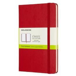Блокнот Moleskine Classic Medium, 240 стр., красный, нелинованный