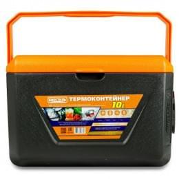 Изотермический контейнер (термобокс) Biostal (10 л.), серый/оранжевый
