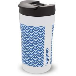 Кружка с крышкой Aladdin Latte 0.25 л, голубой орнамент