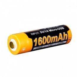 Аккумулятор 14500 Fenix ARB-L14 1600U mAh с разъемом для USB
