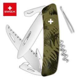 Швейцарский нож SWIZA C05 Camouflage, 95 мм, 12 функций, хаки