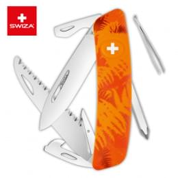 Швейцарский нож SWIZA C06 Camouflage, 95 мм, 12 функций, оранжевый