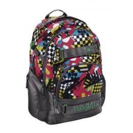 Рюкзак Coocazoo CarryLarry2 Checkered Bolts серый/красный