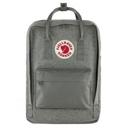 """Рюкзак Fjallraven Kanken Re-Wool Laptop 15"""", серый, 28х16х40 см, 18 л"""