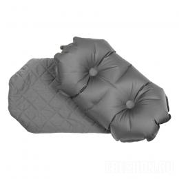 Надувная подушка Klymit Pillow Luxe Grey серая