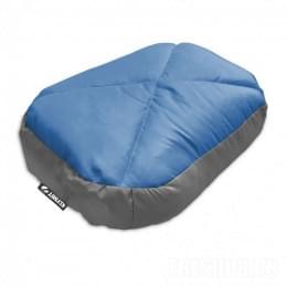 Надувная подушка Klymit Pillow Top Down серо-голубая